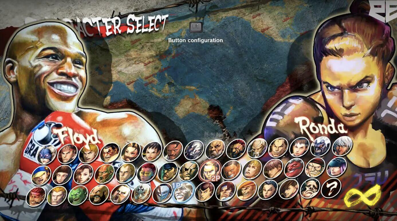 Modded Street Fighter Shows Ronda Rousey vs. Floyd Mayweather