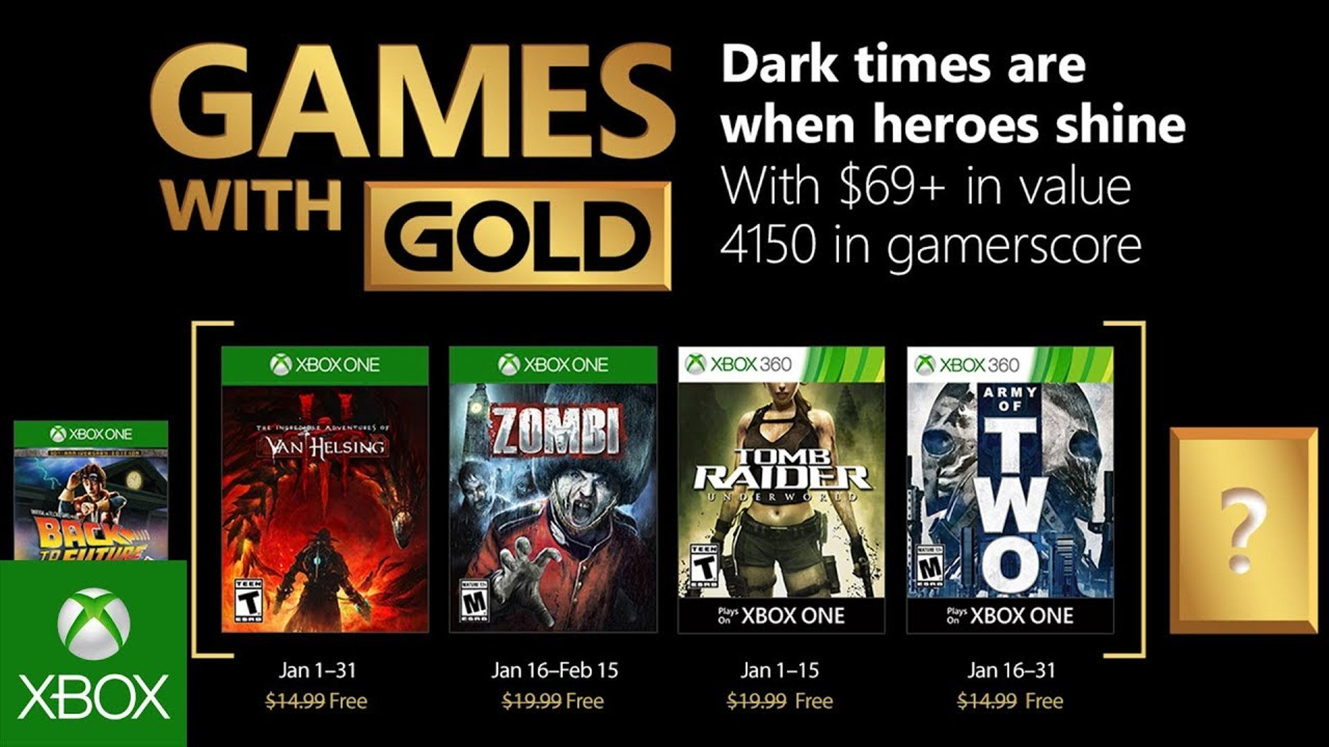 Games with Gold Jan 2018 Review